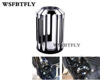 Motorcycle Parts Bike Black CNC Aluminum Deep Cut Oil Filter Cover For Harley Touring Softail Dyna