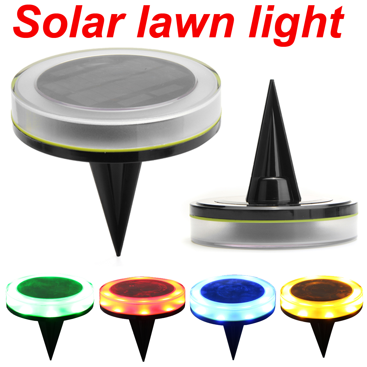 1Pc IP65 12 LED Solar Lawn Light Garden Lawn Lamp Outdoor Landscape Pathway Ground Light Solar Panel 1W