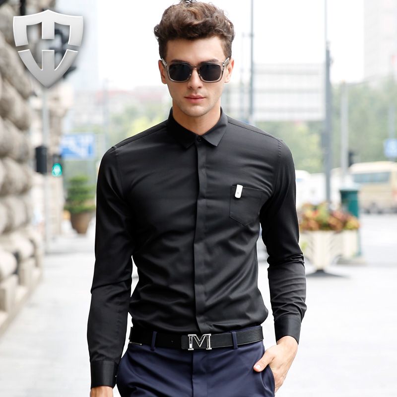 2016 summer fashion men 39 s dress shirt luxury brand shirts for Expensive mens dress shirts brands