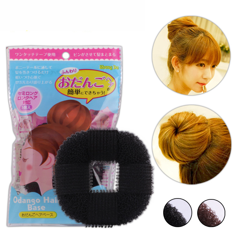 Купить с кэшбэком 1pcs Hair braider for girls women hair styling Donut Former Foam French Twist Magic Hair Bun Sponge Hair Style Braid Tool