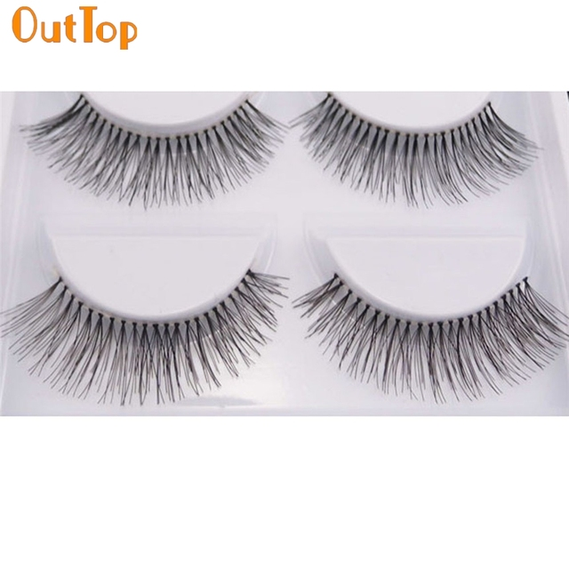 Outtop Love Beauty Female 5 Pairlot Natural Long False Eyelashes