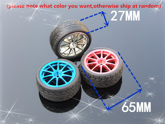 1pcs/lot K349B 65MM Hexagonal Hole Rubber Tire of DIY Toy Car Wheel DIY Toys Parts Sell At A Loss USA Belarus Ukraine