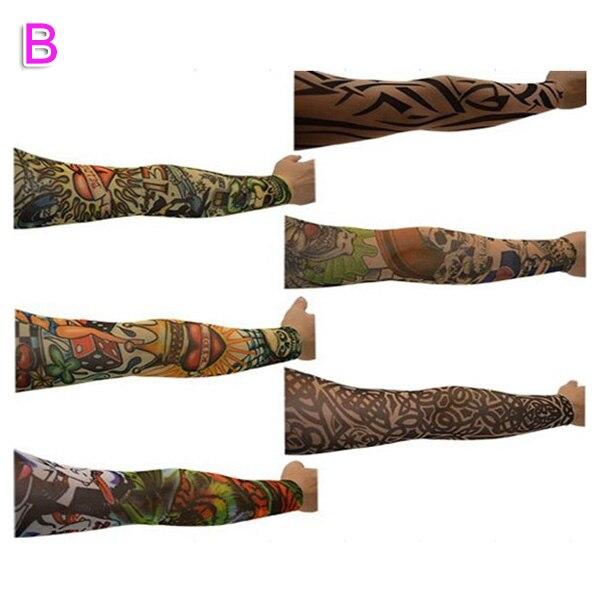 Newly 6/10/20Pcs Nylon Elastic Fake Temporary Tattoo Sleeve Body Arm Tatoo Supplies DO99