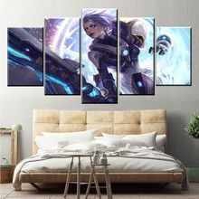 5 Panel LOL League of Legends Riven Game Canvas Printed Painting For Living Room Wall Art Decor HD Picture Artworks Poster riven doggeries