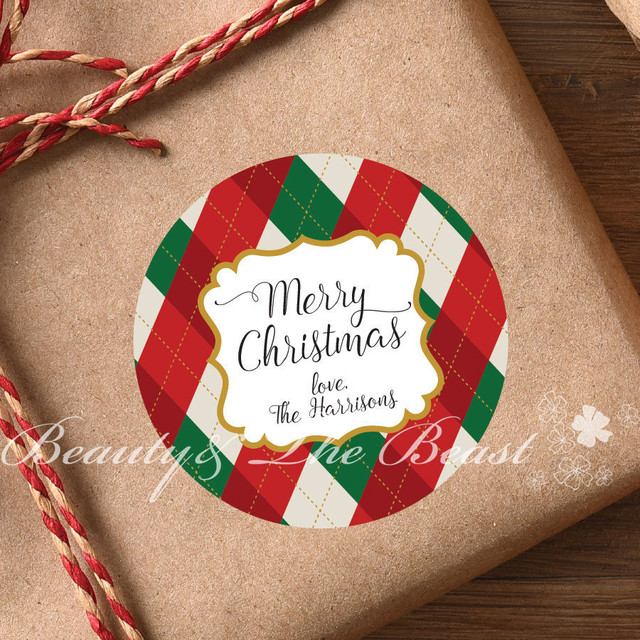 custom christmas stickers bottle tags gift box labels for christmas