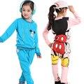 4 Cores do bebê meninas Primavera Outono Esporte terno de manga longa crianças hoodies + calças roupas define crianças 2 pcs roupas define Atacado