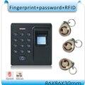 Frete grátis Mais Novo D1 sistema de Controle de Acesso Por Impressão Digital/senha + 125 KHZ controle de acesso ao cartão de IDENTIFICAÇÃO + 10 pcs ID cartão, nenhum software