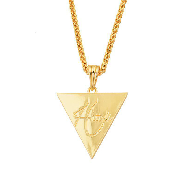 Fashion Pendant Necklace Inverted Triangle Swag Hip Hop Pendants