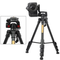 Professional QZSD Q111 Aluminum Portable Tripod With Q08 Rocker Arm Ball Head For Canon Nikon Sony