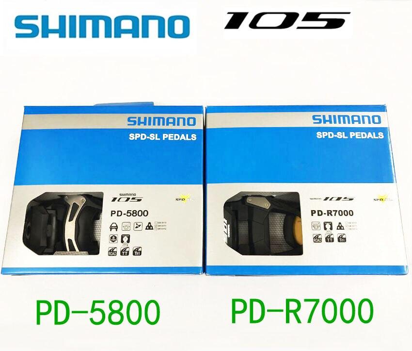 Shimano 105 PD R5800 R7000 pedales Pedais SPD Bicicleta Auto-Bloqueio de Ciclismo de Estrada Componentes Usando Corrida SH11 Chuteiras Bicicleta partes