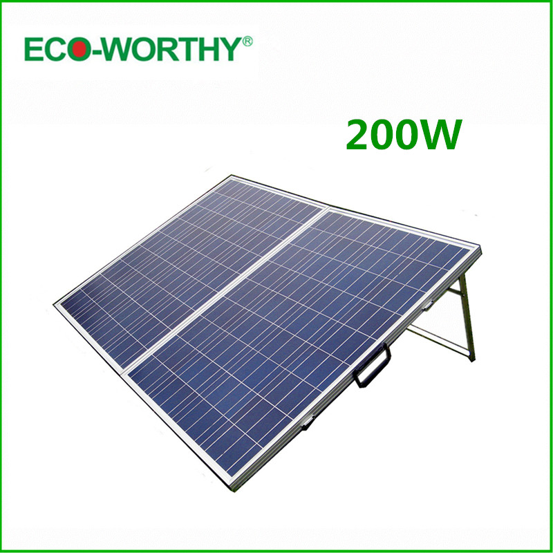 DE Stock No Tax 200W Folding Solar Panel 200W Polycrystalline Portable Solar Panle & 15A Controller 200W Solar Module Panel 12V ggx energy portable solar panel folding