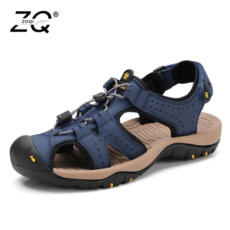 Hot Sale New Fashion Summer Leisure Beach Men Shoes High Quality Leather Sandals The Big Yards Mens Sandals Size 39-45