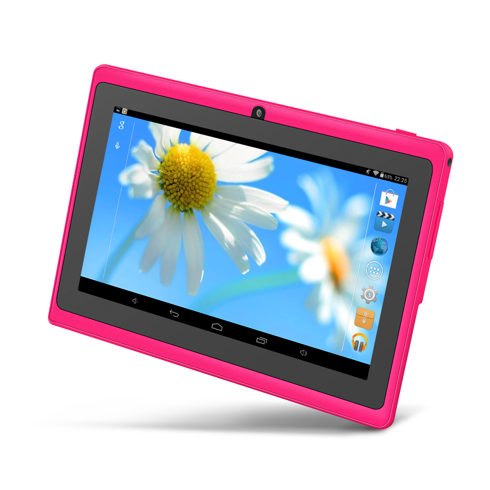 Yuntab tablet 7 inch Q88 Tablet PC, Android 4.4 Allwinner A33, 512MB+8GB Quad core Dual camera WIFI OTG External 3G, Google play цена