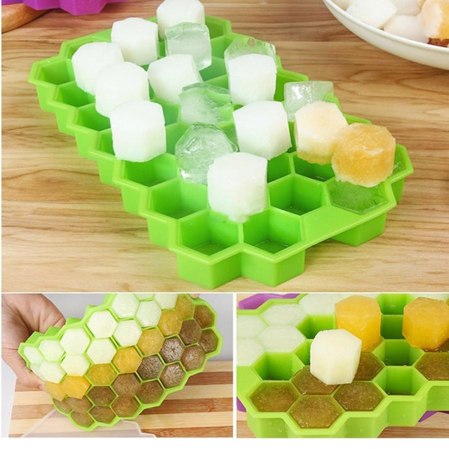 37 Grids Silicone Honeycomb Shape Ice Cube Mold