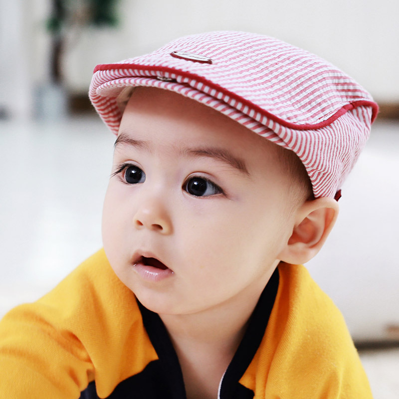 f2ec804895ecb Strip Cotton Baby Hat Infant Striped Cap Beret Baby Boy Accessories for 1 2  Years-in Hats   Caps from Mother   Kids on Aliexpress.com