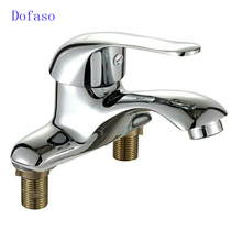 Dofaso bathroom Faucets Mixer cold and hot sink bath tap basin faucet with water 2 PCS 60cm hose