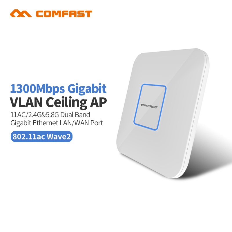 Wireless Dual band Open wrt WiFi Router Ceiling AP 2 Gigabit Ethernet Port Wi fi signal amplifier WiFi Access Point AP Repeater 2pcs 1750m gigabit ac wifi router 2 4ghz 5g dual band wifi repeater access point ap router cf e380ac wireless ceiling ap openwrt