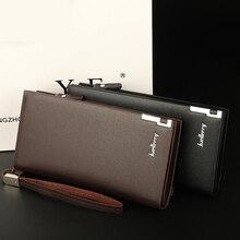 Long coin purse genuine leather zipper clutch bag multi-card