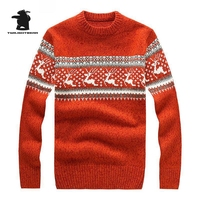 2015 New Mens Ugly Christmas Sweater Multicolor Fashion Wool Chunky Sweater Cowl Neck Sweater For Men