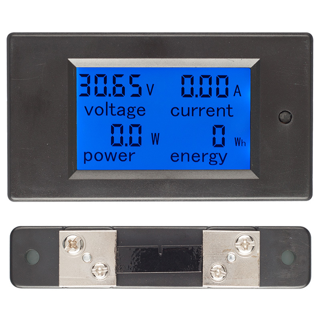 DC 6.5-100V 0-20A LCD Display Digital Current Voltage Power Energy Meter Multimeter Ammeter Voltmeter dc 6 5 100v 0 100a lcd display digital current voltage power energy meter multimeter ammeter voltmeter w 100a current shunt