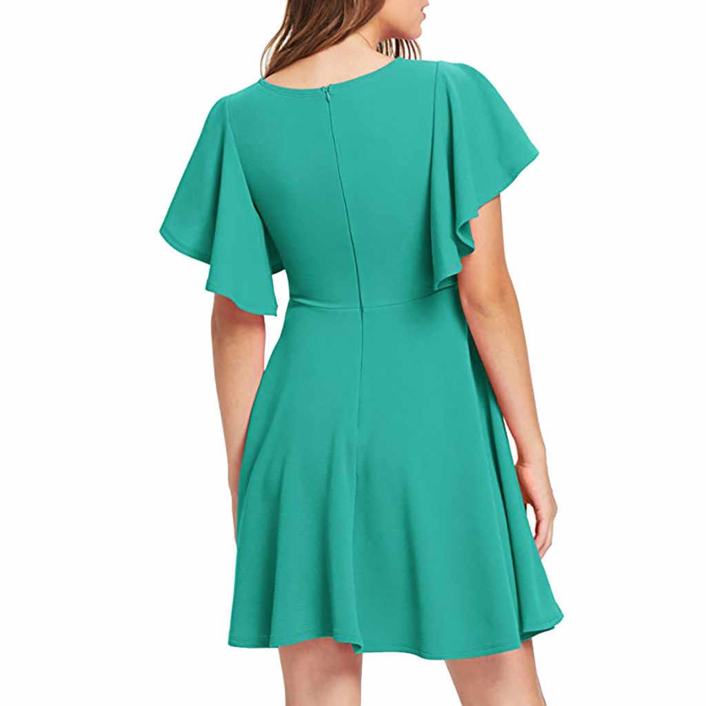 2018 женская красная Цветочная печать 4xl Женская Сексуальная Большая Повседневная Эластичная трапециевидная юбка-клеш коктейльное пляжное вечернее платье #40