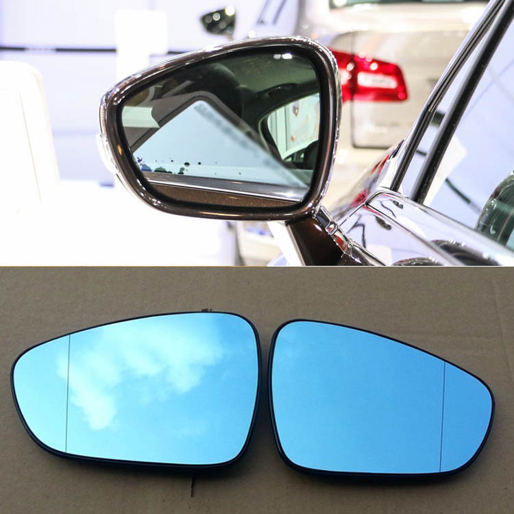 Ipoboo 2pcs New Power Heated w/Turn Signal Side View Mirror Blue Glasses For Citroen C5