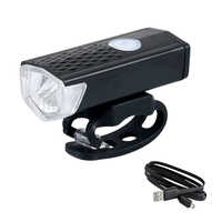 300LM recargable USB LED bicicleta linterna lámpara delantera bicicleta ciclismo luz faro luz bicicleta usb