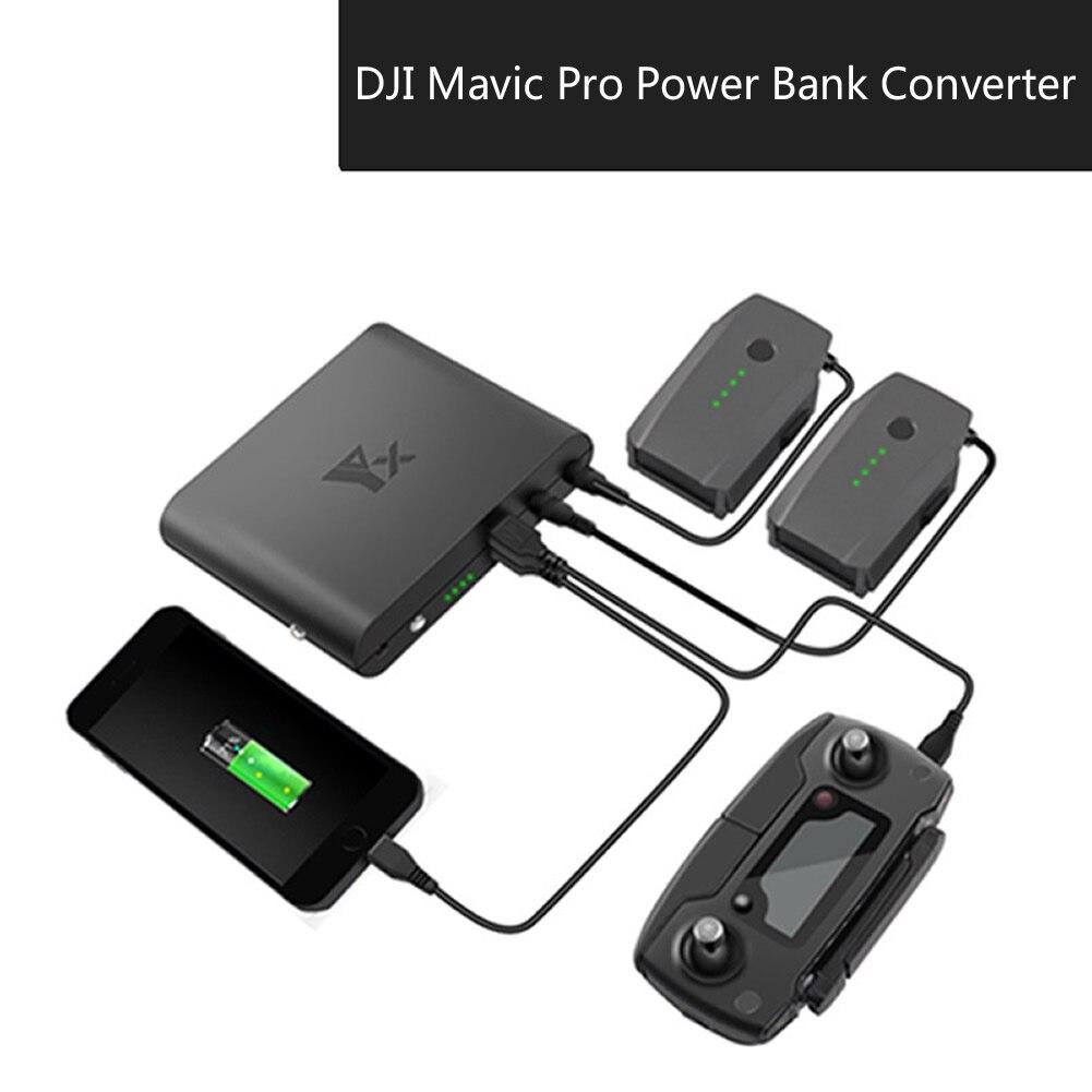 DJI MAVIC PRO power Bank Интеллектуальная батарея Портативное зарядное устройство с двумя выходами USB мобильное крепление и аксессуары для квадрокоп