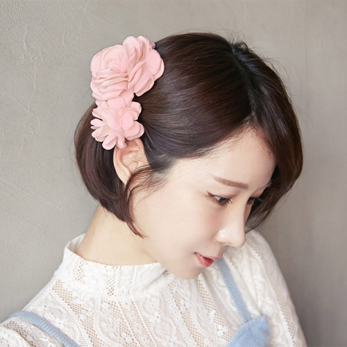 T022 Summer Style Elegant Fabric Flower Hair Barratte Hairclip Side Clip For Head Accessories Women Clips Clamp In From