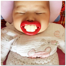 BPA free Silicone Funny Nipple Dummy Lip Baby Soother Joke Prank Toddler Pacy Orthodontic Nipples Teether Baby Pacifier Care(China)