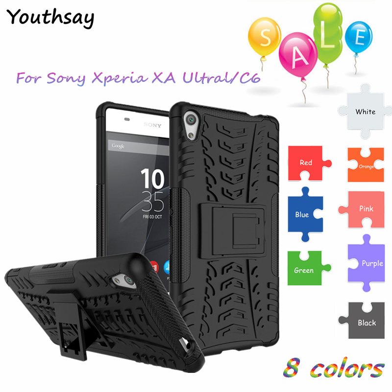 For Sony Xperia C6 Case Armor Case Hybrid Rugged Rubber Silicone Hard Back Phone Cover for Sony Xperia XA Ultra F3212 F3216