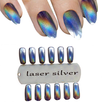 1g Mirror Nails Chrome Pigment Glitters Laser Silver Nail Glitter Dust Mermaid Glitter Powders Chrome Nail