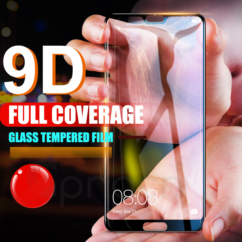Image 2 - 9D Glass on the For Huawei P20 Pro Lite Plus Screen Protector Tempered Glass For Huawei P Smart 2019 Nova 3E 4 Protector Film-in Phone Screen Protectors from Cellphones & Telecommunications