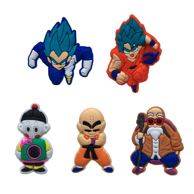 8pcs/lot Dragon Ball Z Cute Cartoon Pvc Magnetic Stickers Blackboard Magnets Fridge Magnet Toys For Kids Birthday Gift