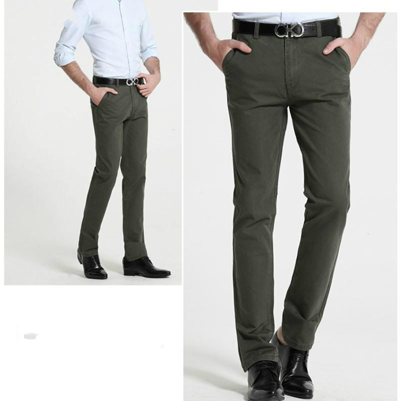 Lguc. H Лидер продаж бренд Прямые Бизнес Повседневное Для мужчин брюки высокое качество дизайнер Демисезонный элегантный мужской досуг длинн...