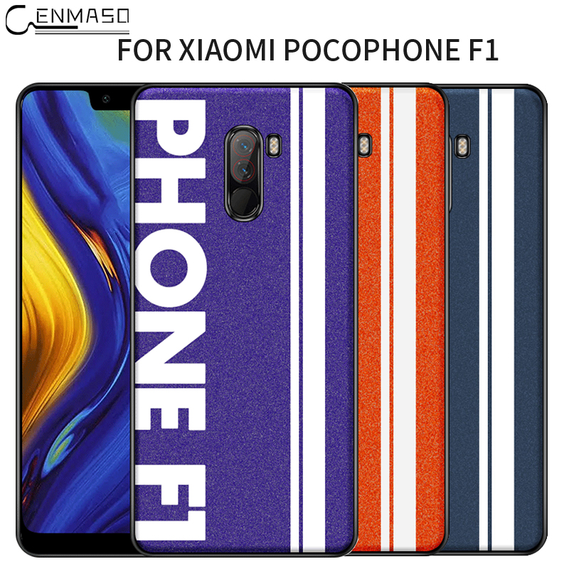 Original Sports Street Culture Leather Soft Edge Protection Cover Xiaomi Pocophone F1 Case Pocophone F1 Case