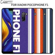 Оригинальные Спортивная уличная культура кожа мягкая защитная крышка край Xiaomi Pocophone F1 случае Pocophone F1 чехол для Поко F1 крышка