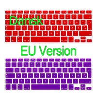 Danish EU Version Silicone Colors Keyboard Film Cover For Apple Macbook Air Pro 13 15 17