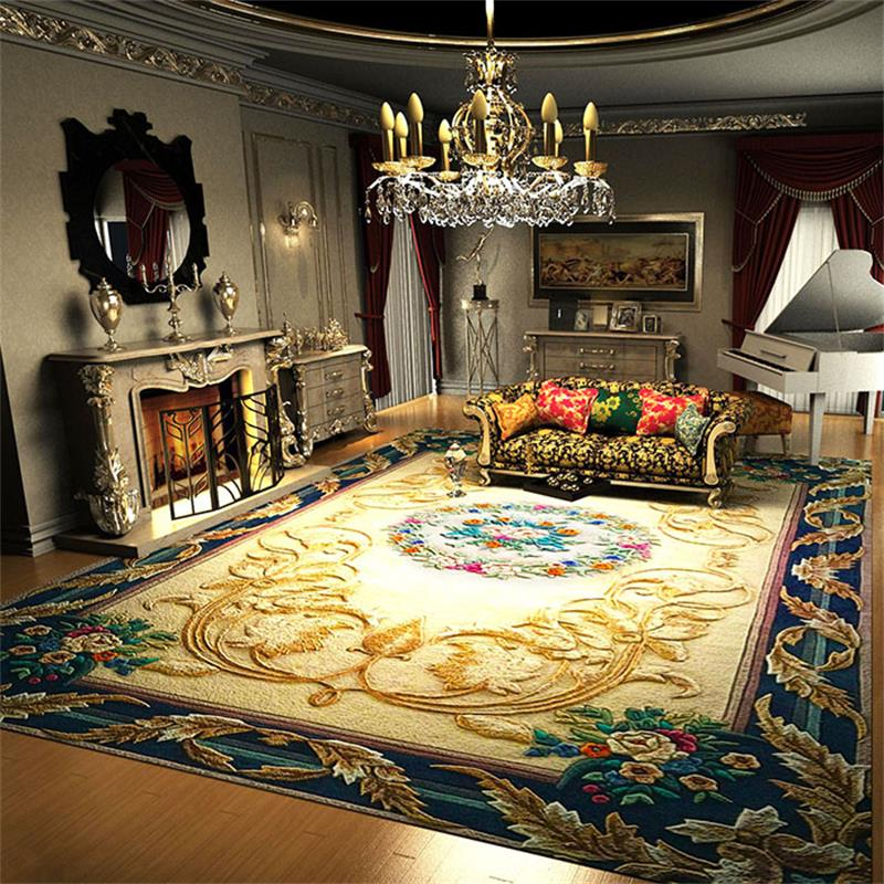 Luxury Wool Carpets For Living Room Villa Decoration Bedroom Carpet Sofa Coffee Table Rug Thick Study Room Floor Mat Large Rugs