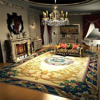 Luxus Wolle Teppiche Für Wohnzimmer Villa Dekoration Schlafzimmer Teppich  Sofa Couchtisch Teppich Dicken Arbeitszimmer Bodenmatte Teppiche