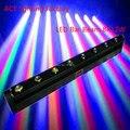 Free Доставка горячей продажи LED Бар Луч Переезд Головного Света RGBW 8x12 W Идеально Подходит для Мобильных ДИ-ДЖЕЕВ, партии, ночной клуб люстра
