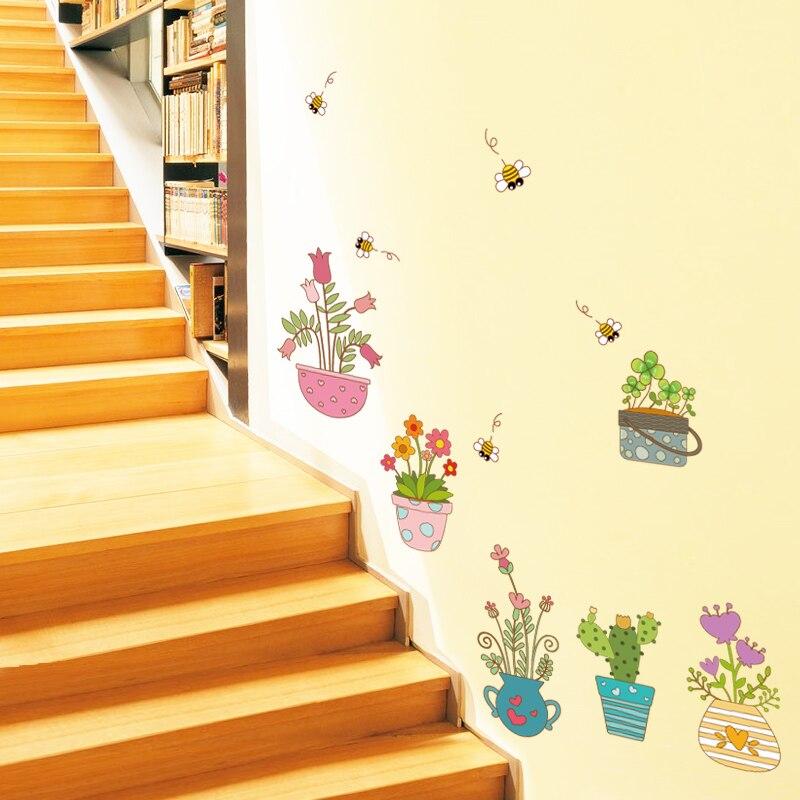 Zs Sticker Garden Decorative Flowers Wall Stickers Wall Stickers for Girls Room Nursery Decor Home Decor