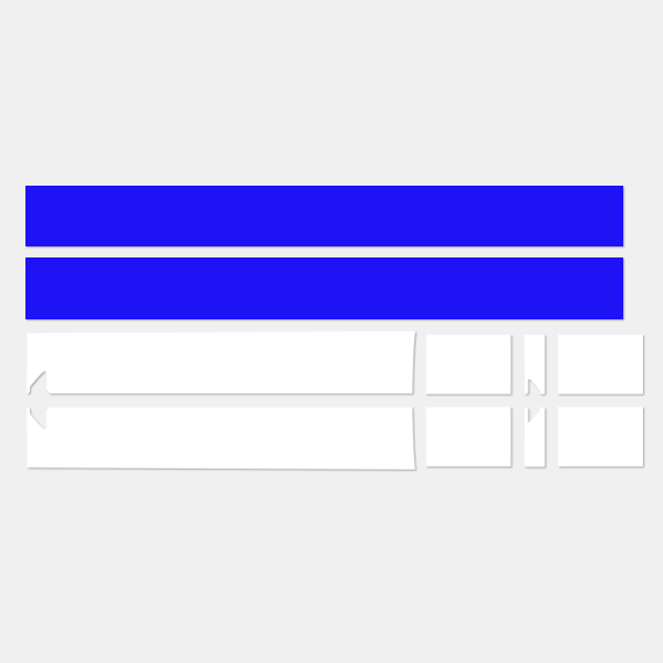 Автомобильный капот на крышу, задние полосы, наклейка на тело для Mini Cooper Coupe r56 r57 r58 r59 John Cooper Works JCW Roadster Cabrio - Название цвета: white and blue