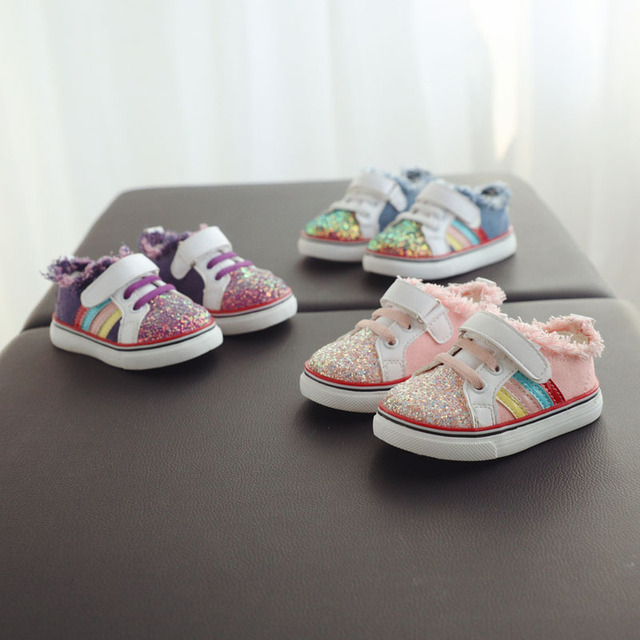 Baby Girl Canvas Zapatos de Polo Para las Pequeñas Primeros Caminantes Sapato Infantil Menina Infantil Zapatos de Niño De Goma Suave Suela Mocasín 503154