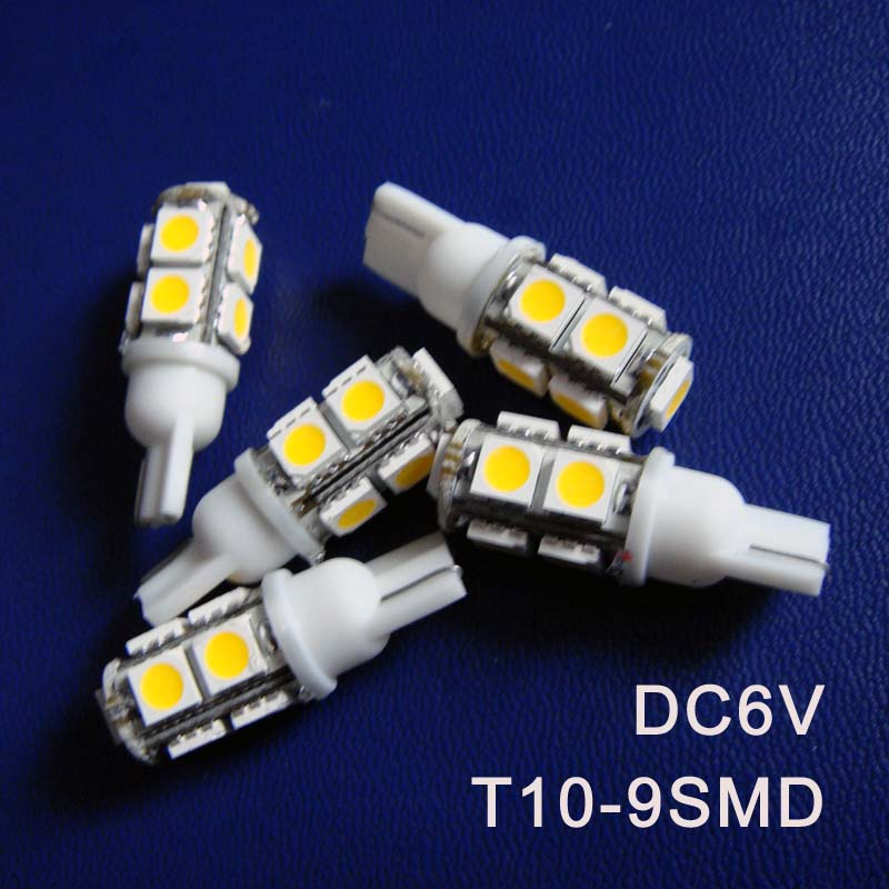 High quality DC6.3V 6V T10 w5w 194 168 501 led Warning Signal Pilot Lamp caution light Indicator light free shipping 50pcs/lot