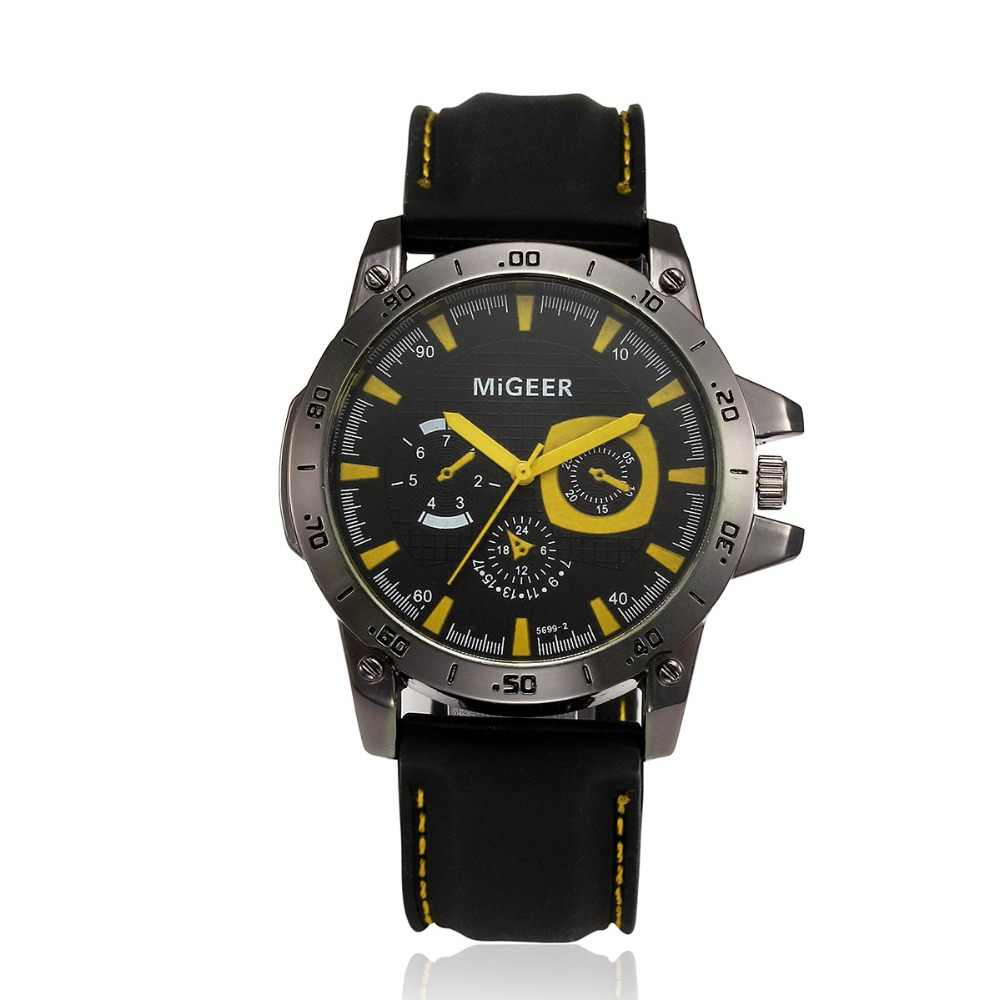MIGEER 2019 男性ファッションシリコーンストラップな腕時計の時間腕時計アナログ腕時計メンズ腕時計防水レロジオ Masculino ギフト