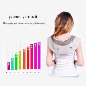 Image 4 - מכירה לוהטת צוואר לעיסוי נייד חשמלי חבטות צוואר הרחם עיסוי צעיפי כאב צוואר כתף Multi פונקצית טאפינג לעיסוי