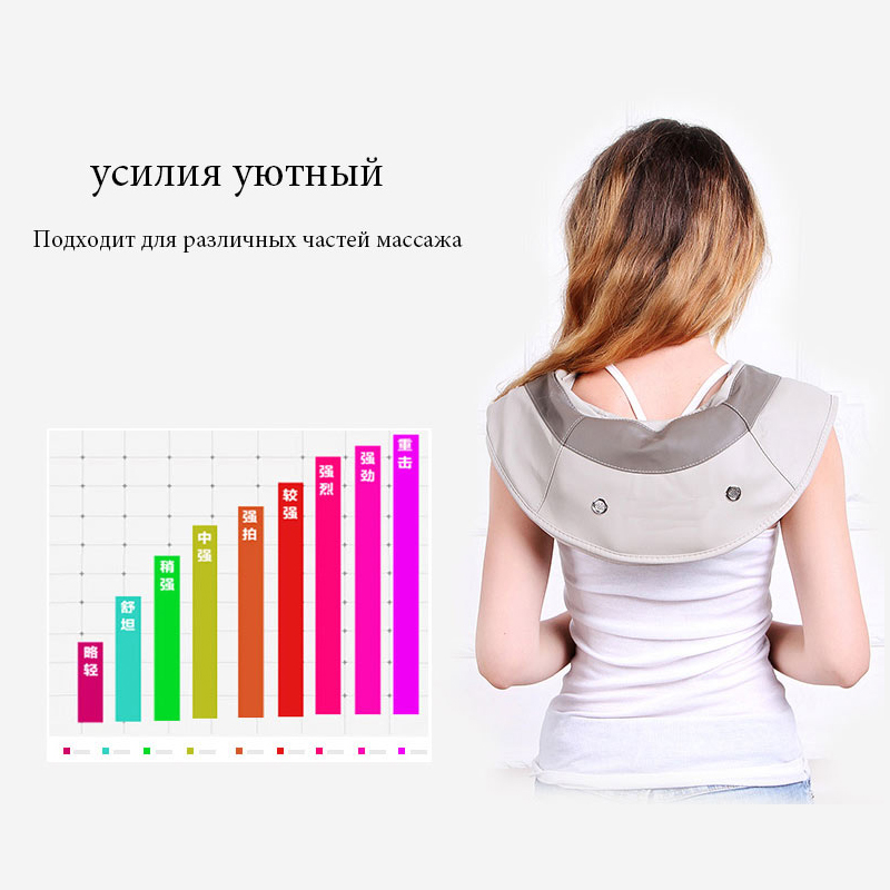 Image 4 - Hot Sale Neck Massager Portable Electric Knocks Cervical Massage Shawls Pain Neck and Shoulder Multi function Tapping Massager-in Massage & Relaxation from Beauty & Health