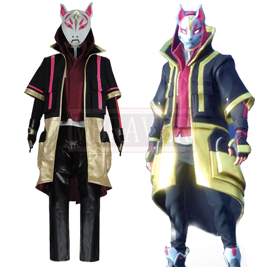 Battle Royale Season 5 Drift Skins Black Fox Cosplay Costume Custom Made Free Shipping