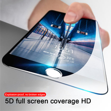 5D Full Cover Edge Tempered film for iPhone 7 8 6 Screen Protector